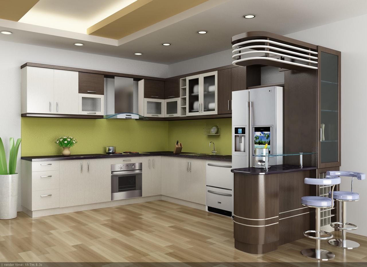 Đồ nội thất gỗ đẹp cho phòng bếp ấn tượng